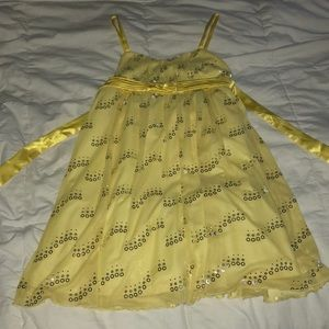 Yellow girls formal dress
